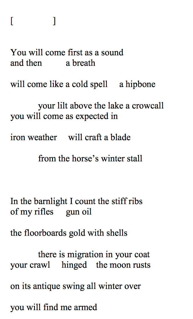 A Poem From American Gramophone Forthcoming From Augury